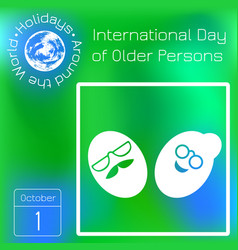 International day of older person the faces vector