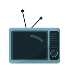Isolated retro tv design vector image