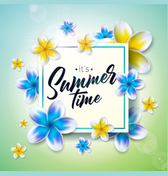 Its summer time with flower on nature vector