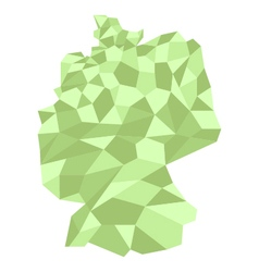 Map germany low poly vector