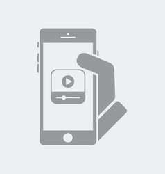 media play on smartphone vector image