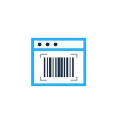 online barcode logo icon design vector image