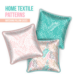Patterned decorative pillows cushions vector