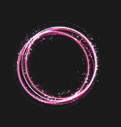 pink gold circle light effect with round glowing vector image