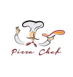 pizza chef cartoon vector image