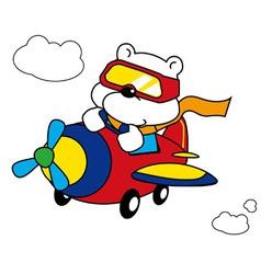 Polar Bear Pilot vector