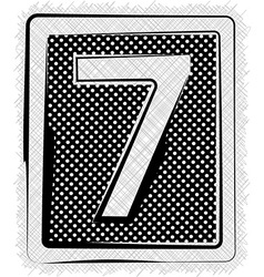 Polka Dot Font NUMBER 7 vector