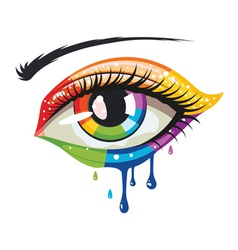 Rainbow Colors Eye vector