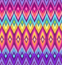 Rainbow ikat pattern vector