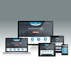 Responsive Web Mockup vector image