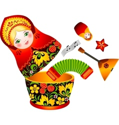 Russian tradition matryoshka doll vector