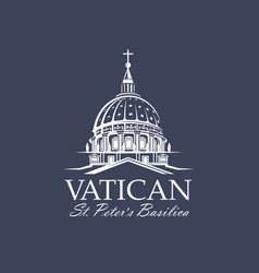 saint peters basilica at vatican vector image