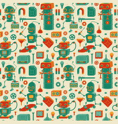 save robots pattern vector image