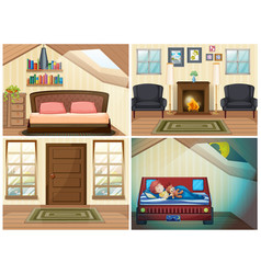 set room in house vector image