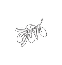 Single continuous line drawing pile healthy vector