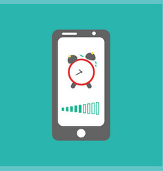smart phone alarm clock vector image
