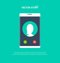 smartphone or mobile phone ringing vector image