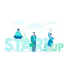 startup company - flat design style colorful vector image
