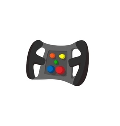 Steering wheel cartoon icon vector image