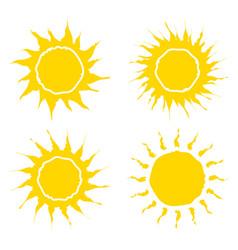 sun symbol icon design isolated on white vector image