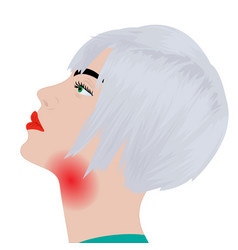 throat pain throat inflammation flu vector image