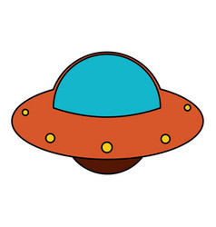 Ufo spaceship fly image vector