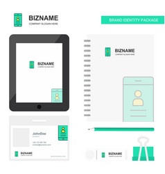 user profile business logo tab app diary pvc vector image