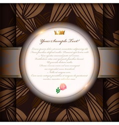 Vintage invitation card or background art vector