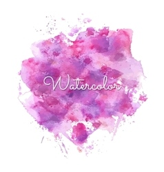Watercolor spot background vector