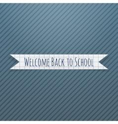 Welcome Back to School paper Badge vector