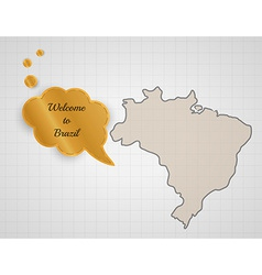 Welcome to brazil vector