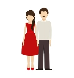 Woman and man couple vector