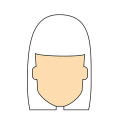 Woman faceless cartoon vector