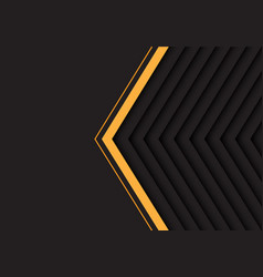 Yellow grey arrow pattern with black blank space vector