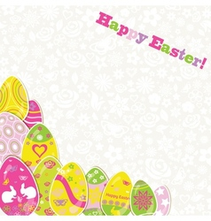 Easter background with paper eggs vector image vector image