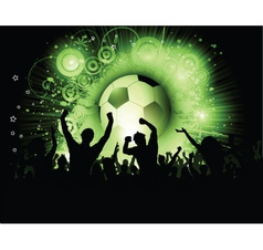 football crowd vector image vector image