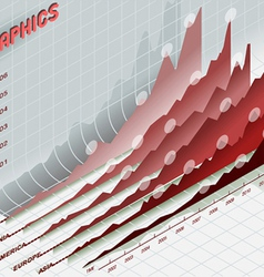 infographic set elements in red vector image vector image
