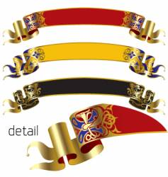 Medieval banners vector