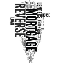 your house for money text word cloud concept vector image vector image