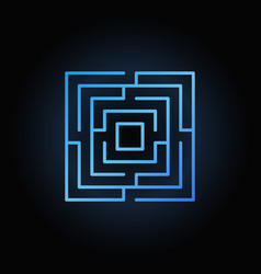 blue labyrinth or maze icon vector image vector image