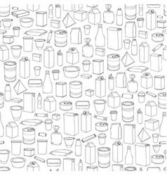 food packaging seamless pattern different package vector image vector image