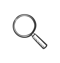 hand draw doodle search icon vector image