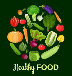 healthy vegetables and vegetarian food vector image