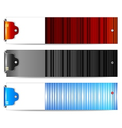 Horizontal banners set vector image vector image