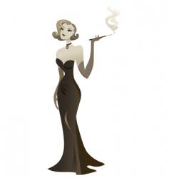smoking babe vector image vector image