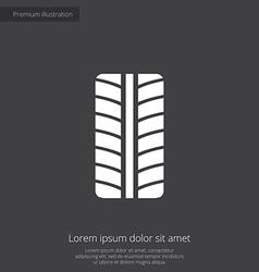tire premium icon vector image