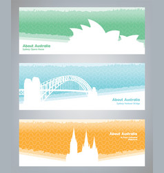 travel to australia travel banners about vector image vector image
