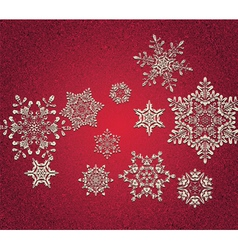 Abstract 3D Snowflakes vector image