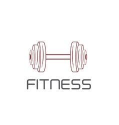 barbell design template vector image