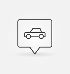 car in square pin vector image